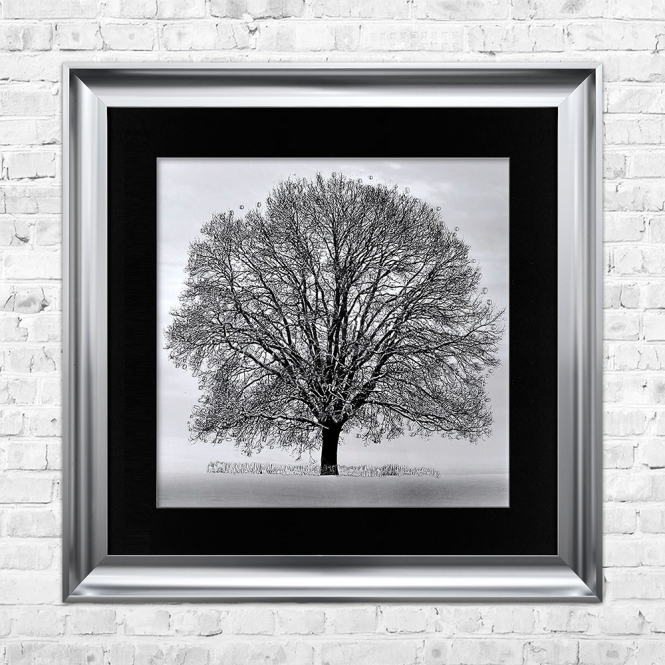 SHH Interiors Glitter Liquid Art Winter Snowy Tree | 90cm x 90cm
