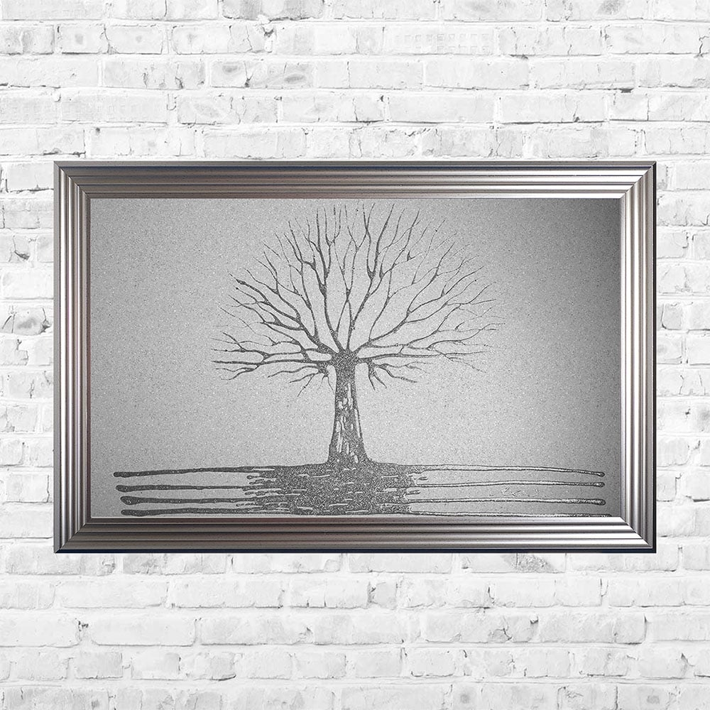 Glitter Tree of Life White Framed Art | 114cm x 74cm