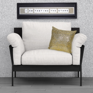 SHH Interiors Gold Glitter Cushion | 45cm x 45cm