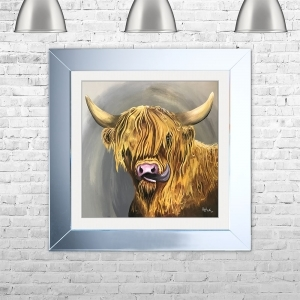 HIGHLAND TONGUE Framed Liquid Artwork