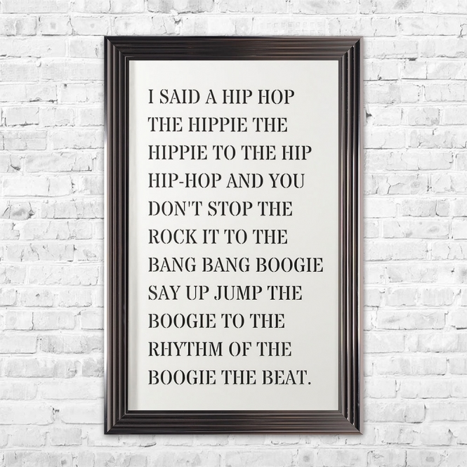 SHH Interiors Hip Hop 3D Quote | Pre Cut Letters | 114 X 74 CM