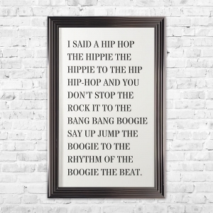 Hip Hop 3D Quote | Pre Cut Letters | 114 X 74 CM