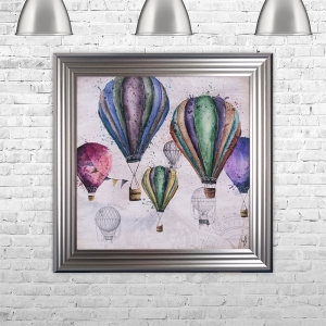 Hot Air Balloons Liquid Art | 75cm x 75cm