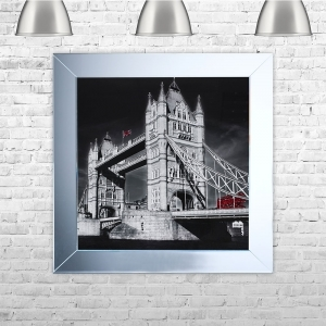 London Tower Red Bus | 75cm x 75cm