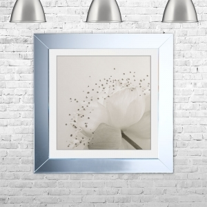 LOTUS 1 Framed Liquid Artwork and Swarovski Crystals | 75cm x 75cm