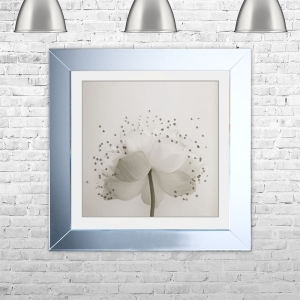 LOTUS 2 Framed Liquid Artwork and Swarovski Crystals | 75cm x 75cm