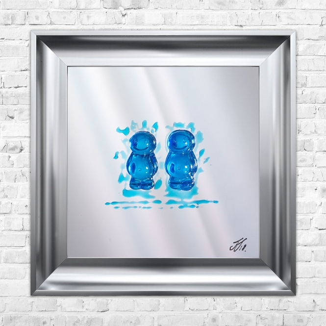 SHH Interiors MALE COUPLE Jelly Babies Liquid Art | JAKE JOHNSON | 55cm x 55cm Mirrored Background