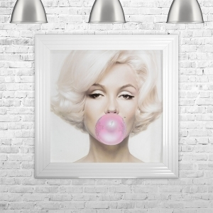 Marilyn Monroe Blowing Gum | 75cm x 75cm