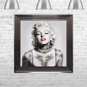 Marilyn Monroe with Tattoos | 75cm x 75cm