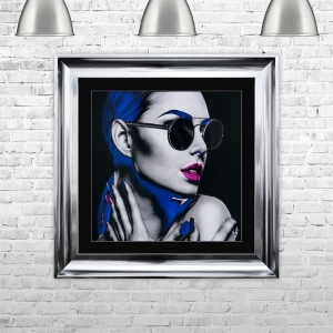 NEON GIRL 2 With Swarovski Crystals | 75cm x 75cm