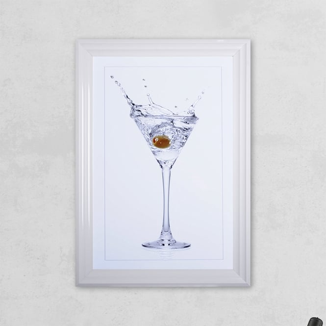 SHH Interiors Olive Glass Print with Liquid Glass and Swarovski Crystals 48 x 68 cm