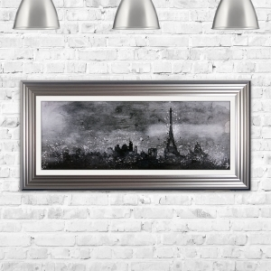 Paris Sketch Framed Liquid Art Artwork 115cm x 55cm