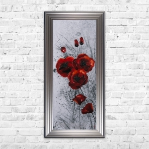 Poppy 1 Liquid Art Framed Artwork 115cm x 55cm