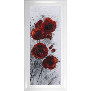 Poppy 2 Liquid Art Framed Artwork 115cm x 55cm