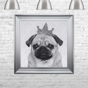 Pug with Crown | 75cm x 75cm