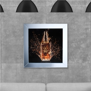 SHH Bottle Whiskey Framed Artwork