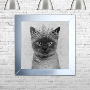 Siamese Cat Framed Liquid Artwork and Swarovski Crystals