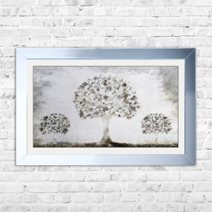 Silver Money Tree with Silver Coins | 114cm x 74cm