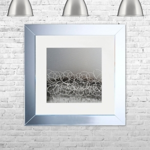 STORM-WHT-MSIL Framed Liquid Artwork and Swarovski Crystals | 75cm x 75cm