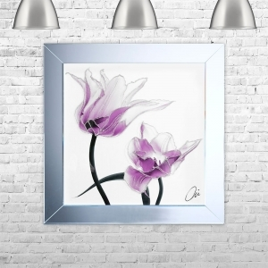 TULIP 2 Framed Liquid Artwork and Swarovski Crystals | 75cm x 75cm