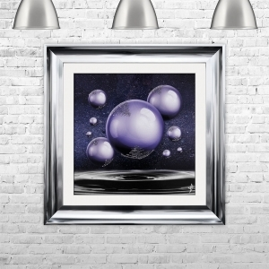 Ultra Violet Orbs Spheres with Glitter Liquid Art | 75cm x 75cm