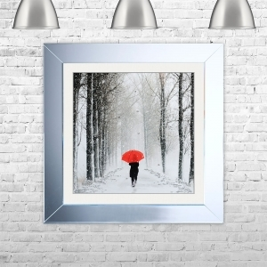 UMBRELLA PATH Framed Liquid Artwork and Swarovski Crystals | 75cm x 75cm