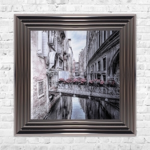 VENICE 1 Print Framed Liquid Artwork and Swarovski Crystals