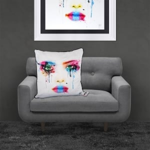 Patrice Murciano Licensed 55cm Luxury Feather Filled Cushion - COLORS 'FACE'