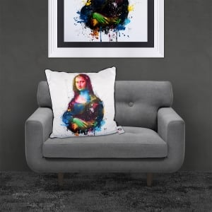 Patrice Murciano Licensed 55cm Luxury Feather Filled Cushion - davinci pop 'MONA LISA'