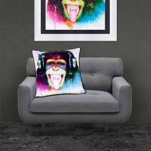 Patrice Murciano Licensed 55cm Luxury Feather Filled Cushion - Monkey HD - DJ Monkey