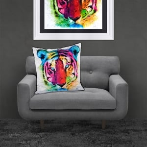 Patrice Murciano Licensed 55cm Luxury Feather Filled Cushion - TIGER