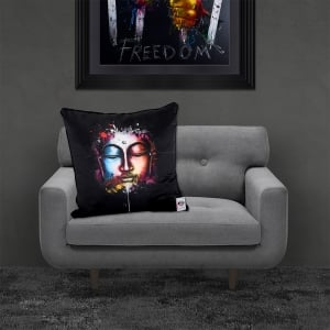 Patrice Murciano Licensed 55cm Luxury Feather Filled Cushion - ZEN POP 'METALLIC BUDDHA'