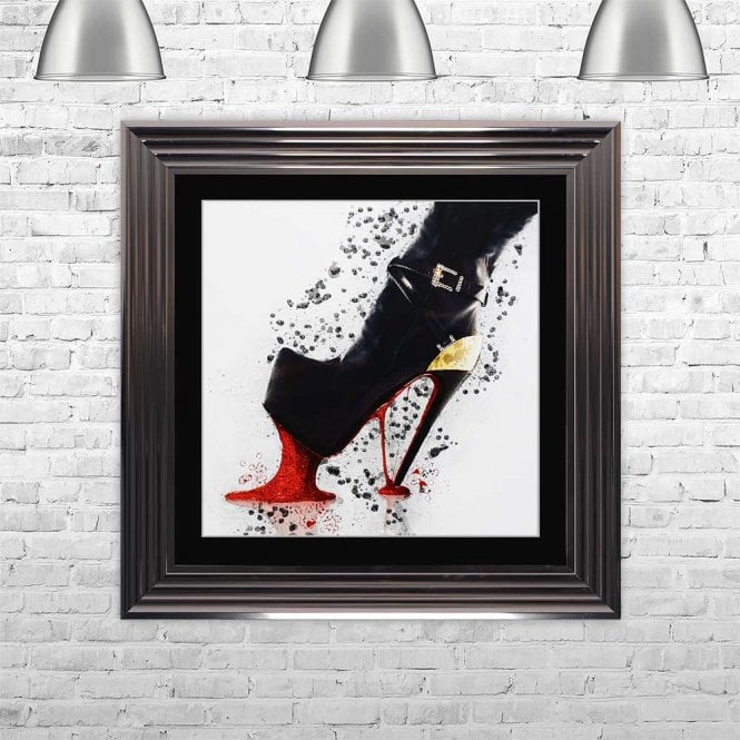 STOMPING HEEL FRAMED WALL ART