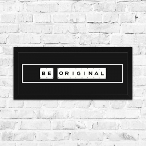 Be Original Framed Playing Cards