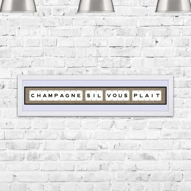 The Playing Card Co. Champagne Sil Vous Plait Framed Playing Cards