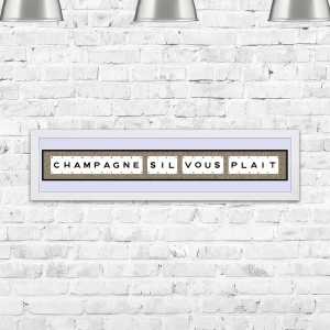 Champagne Sil Vous Plait Framed Playing Cards