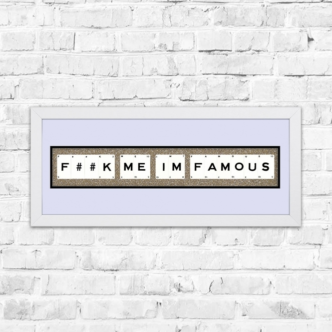 The Playing Card Co. F##K Me Im Famous Champagne Glitter Framed Playing Cards