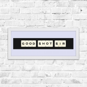 Good Shot Sir Framed Playing Cards