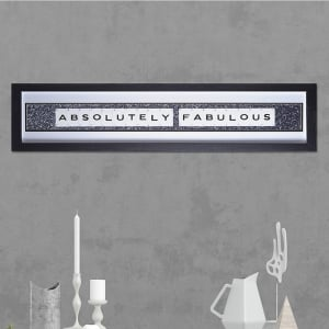 "Hand made ""ABSOLUTELY FABULOUS"" Quote with Vintage Playing Cards 