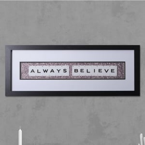 "Hand made ""ALWYAS BELIEVE"" Quote with Vintage Playing Cards 