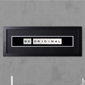 "Hand made ""BE ORIGINAL"" Quote with Vintage Playing Cards 