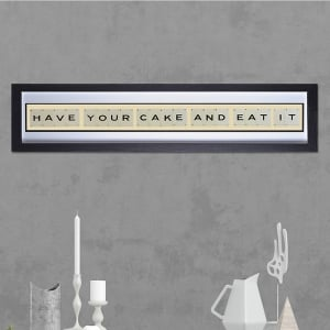 "Hand made ""CAKE"" Quote with Vintage Playing Cards 