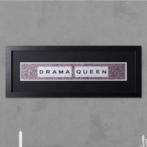 "Hand made ""DRAMA QUEEN"" Quote with Vintage Playing Cards 