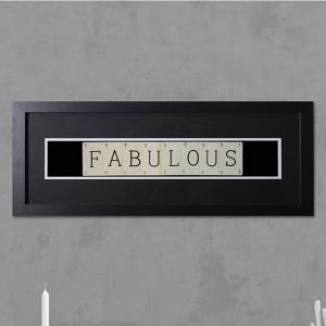 "Hand made ""FABULOUS"" Quote with Vintage Playing Cards 