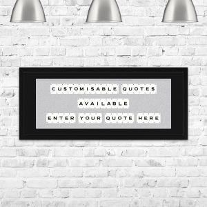 The Playing Card Co. Hand Made Framed Custom Quote | 100cm x 40cm