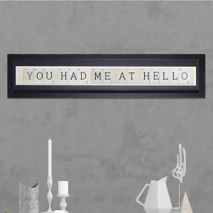 "Hand made ""HAD ME AT HELLO"" Quote with Vintage Playing Cards 