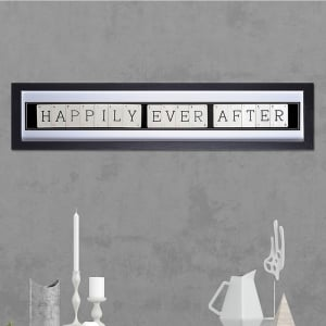 "Hand made ""HAPPILY EVER AFTER"" Quote with Vintage Playing Cards 