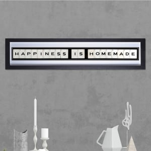 "Hand made ""HAPPINESS IS HOMEMADE"" Quote with Vintage Playing Cards 