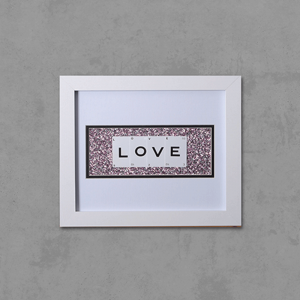 "Hand made ""LOVE"" Quote with Vintage Playing Cards 