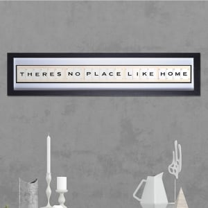 "Hand made ""NO PLACE LIKE HOME"" Quote with Vintage Playing Cards 